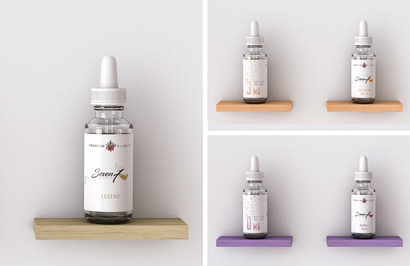 Diseño de Etiquetas - Liquidos Premium para cigarrillos 8