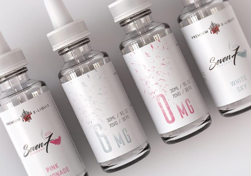 Diseño de Etiquetas - Liquidos Premium para cigarrillos 10