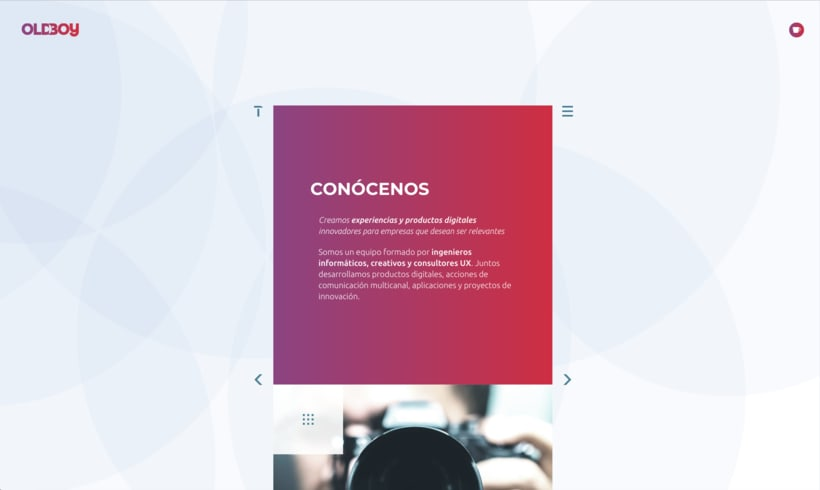 Website de OLDBOY Creative Development 0