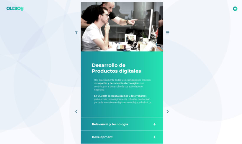 Website de OLDBOY Creative Development 1