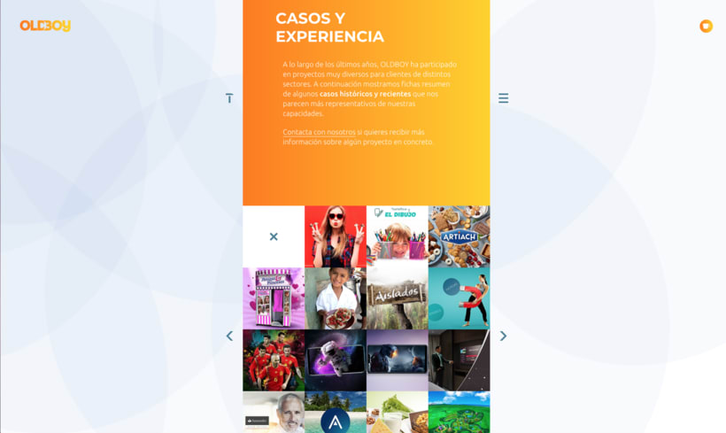 Website de OLDBOY Creative Development 2