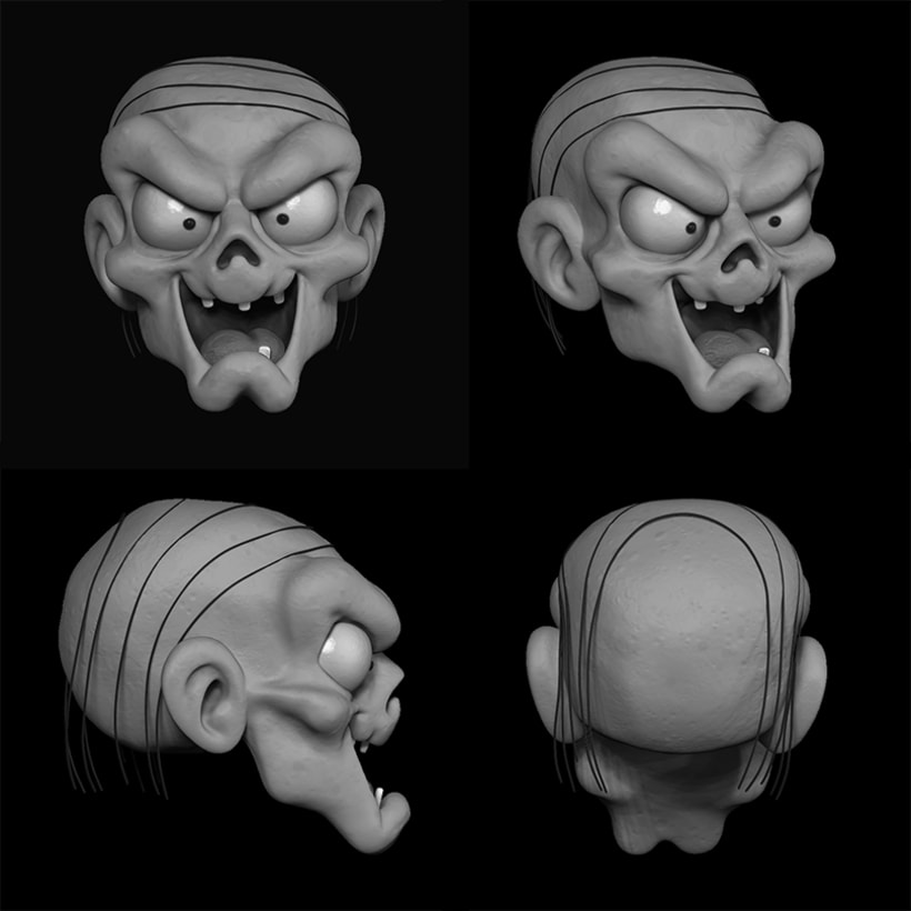 Proyecto Zbrush: Crypt Keeper 0