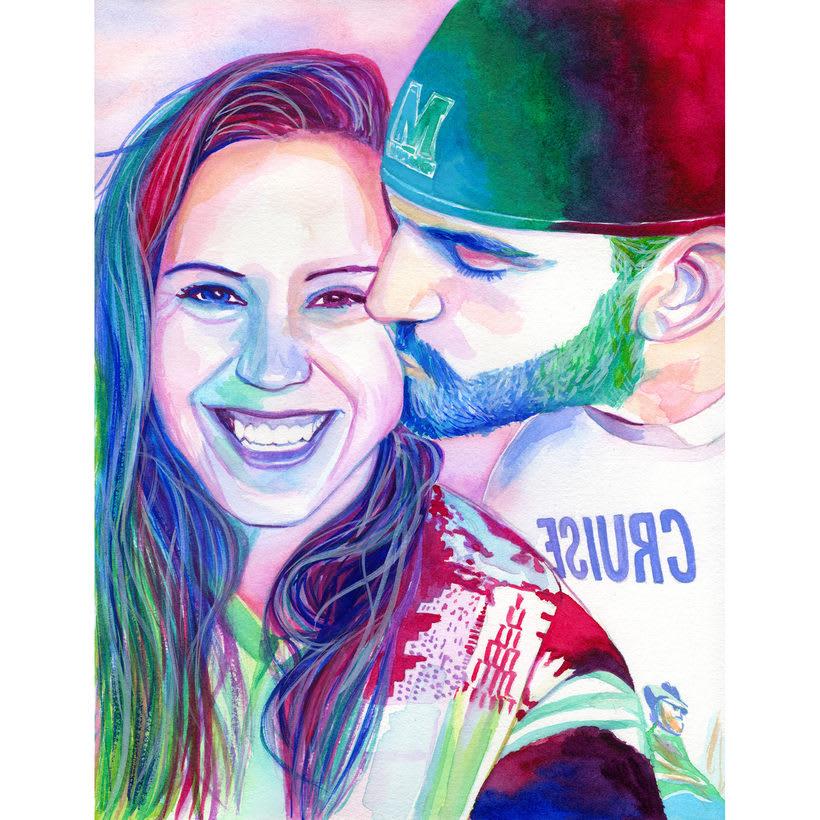 Watercolor portraits 2
