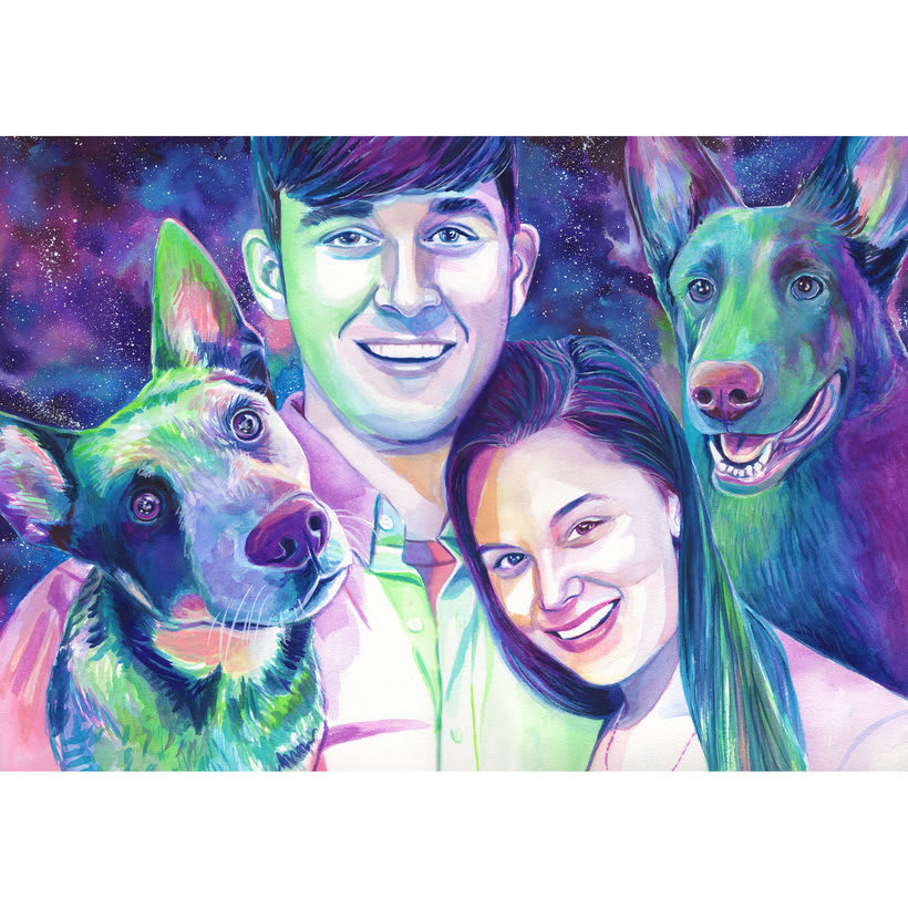 Watercolor portraits 3