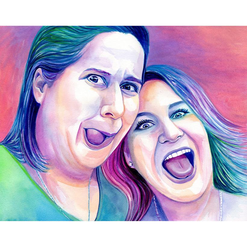 Watercolor portraits 4