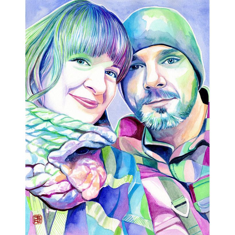 Watercolor portraits 5