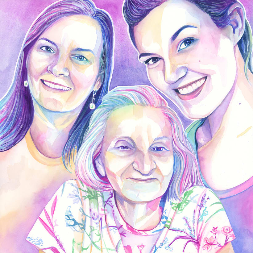 Watercolor portraits 7