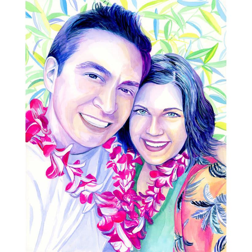 Watercolor portraits 8