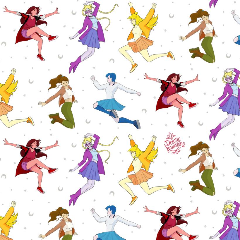 Diseño de patrones Sailor Moon  5