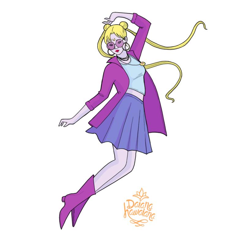 Diseño de patrones Sailor Moon  0