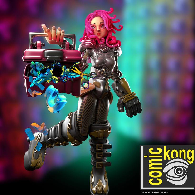 comic kong girl 0