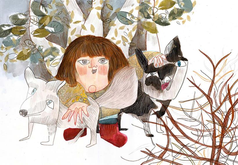 La domadora de perros( álbum ilustrado en proceso) -1