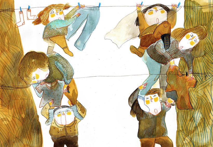 El tendedero( álbum ilustrado - sin publicar) 1
