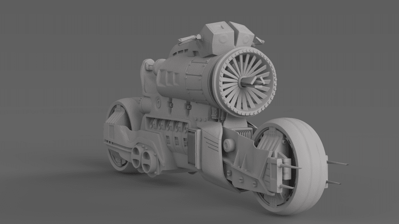 Sci-Fi Motorcycle -1