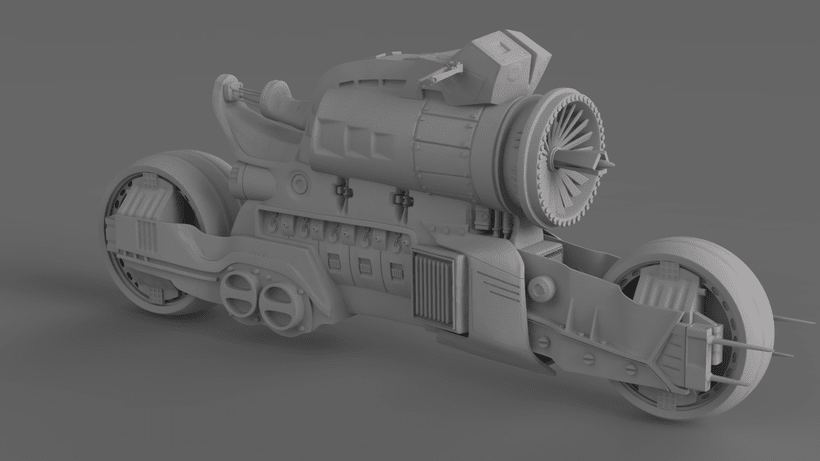 Sci-Fi Motorcycle 0