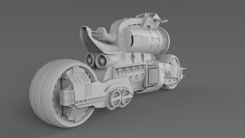 Sci-Fi Motorcycle 1