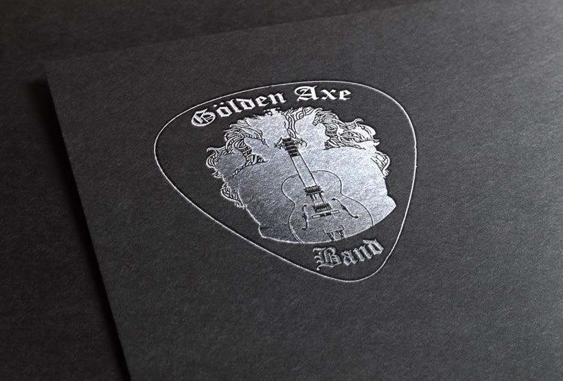 Golden Axe Band - Packaging/Diseño de material -1