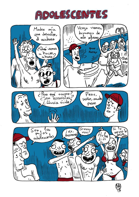 MI CURRO DE VERANO. Cómic de humor destinado al trabajador precario. 10