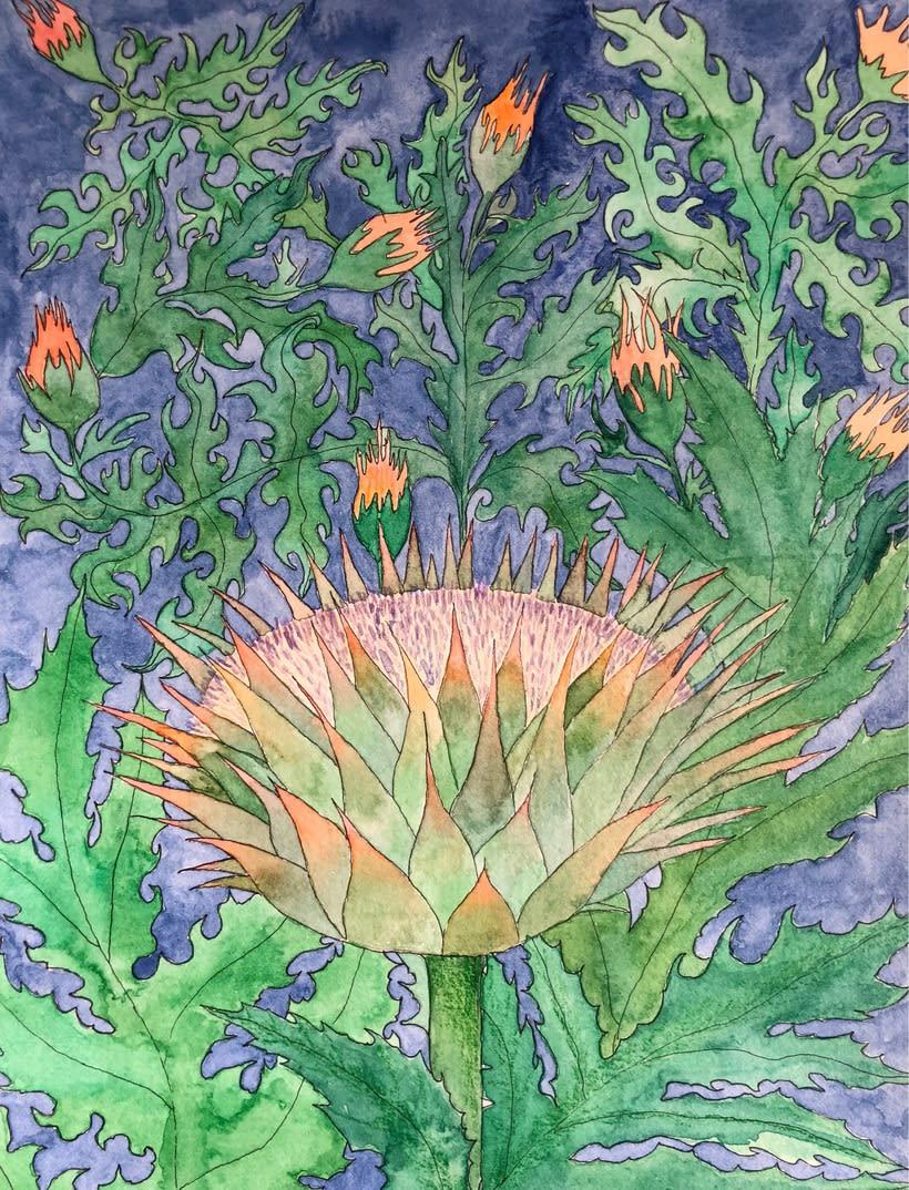 Mi Proyecto del curso: Animalario botánico: acuarela, tinta y grafito 0