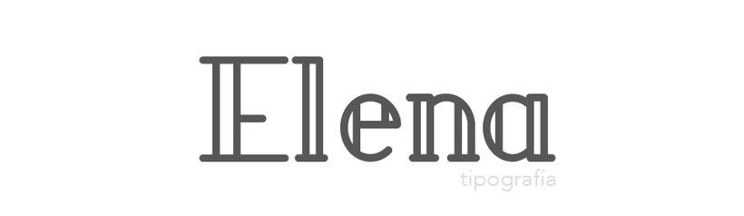Elena typeface 1
