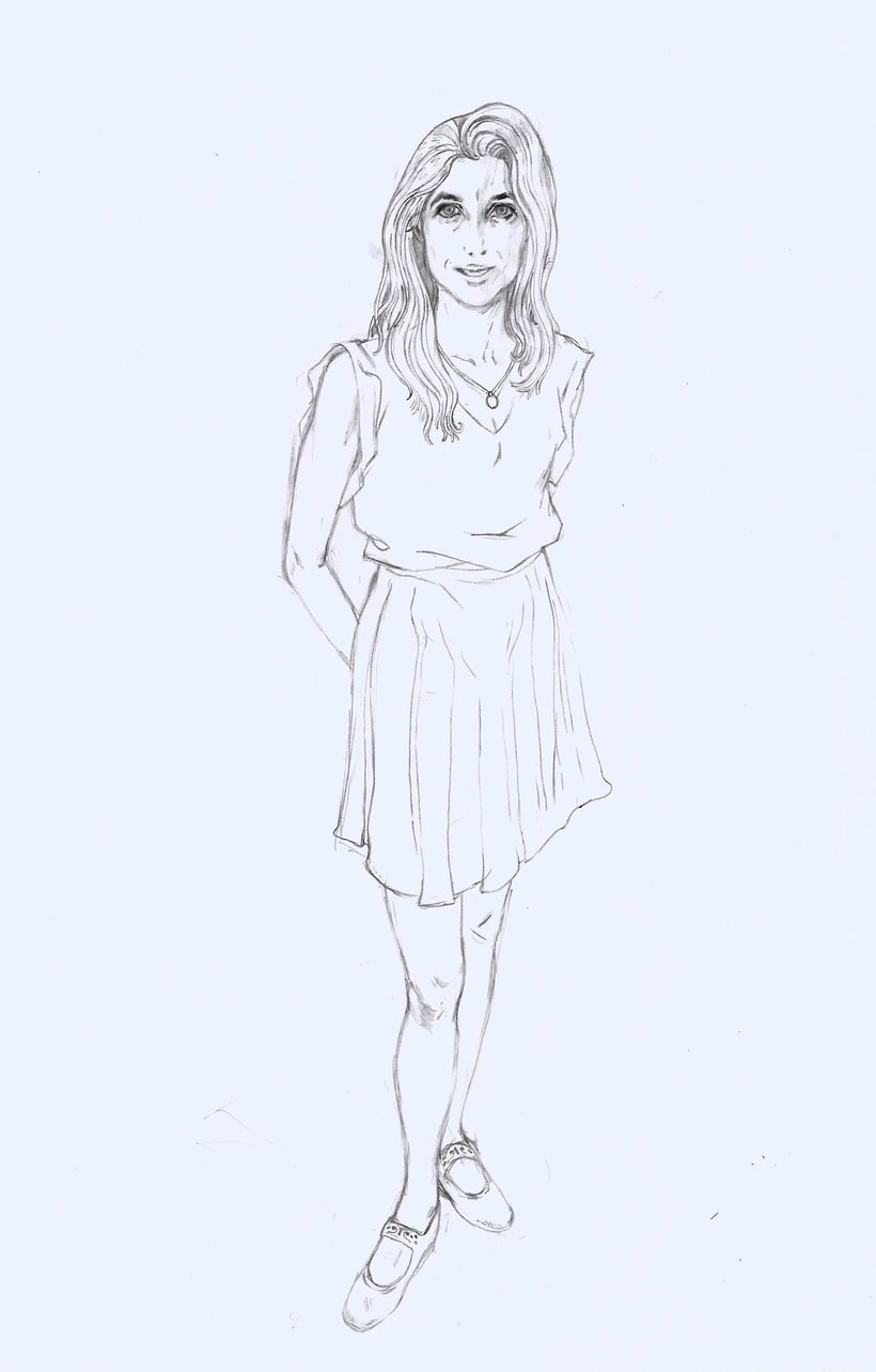 Ilustración de moda Nº 2. Proceso 0