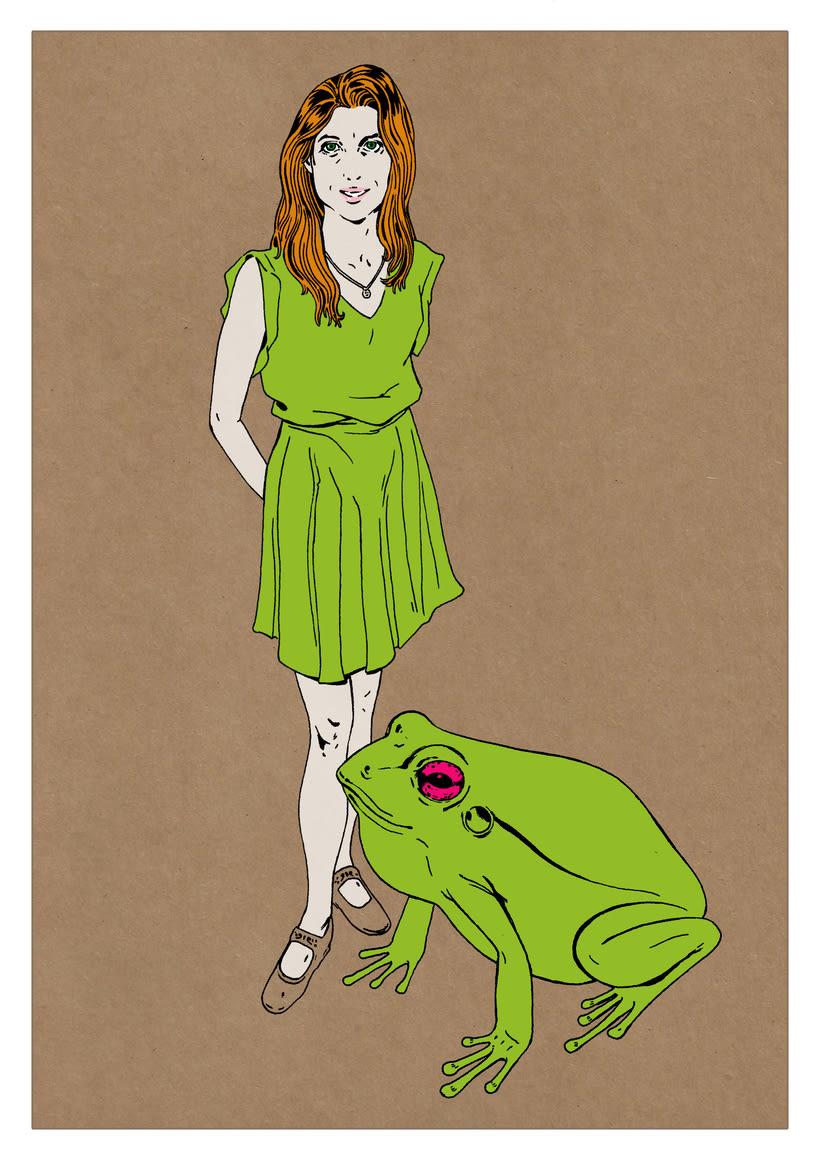Ilustración de moda Nº 2. Proceso 3