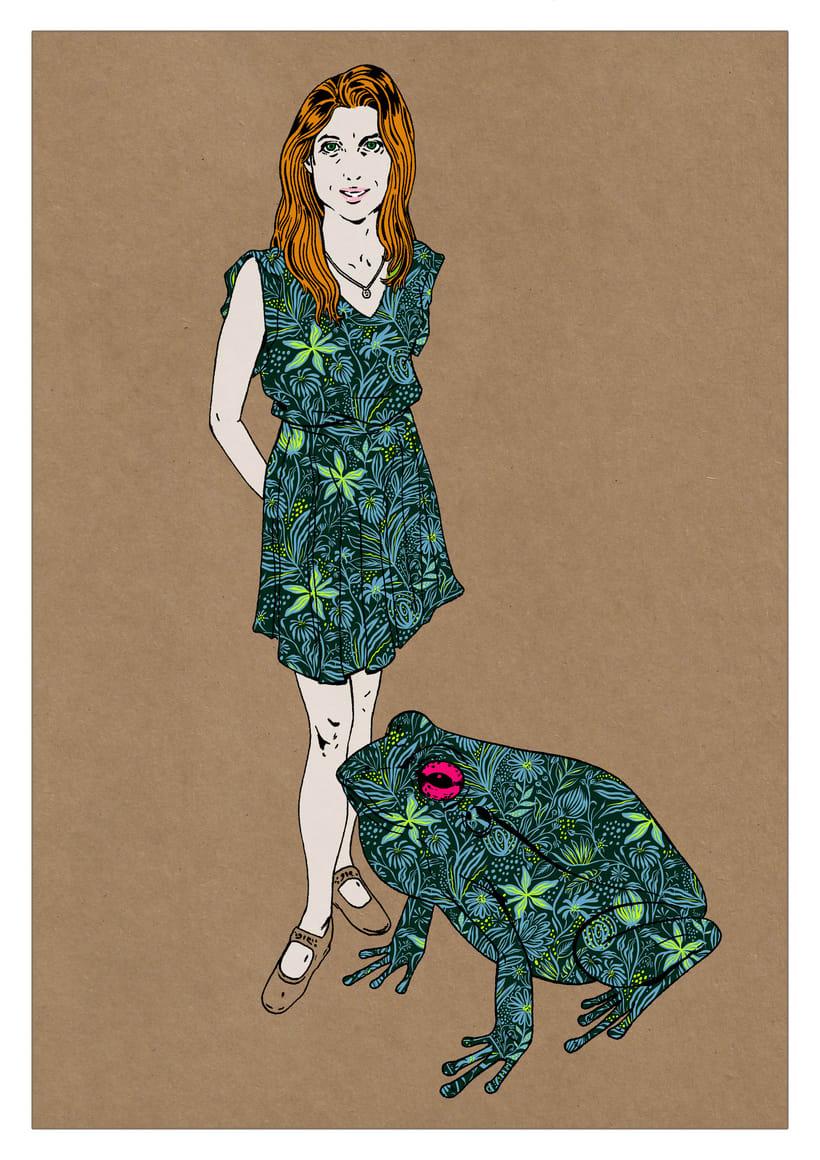 Ilustración de moda Nº 2. Proceso 4