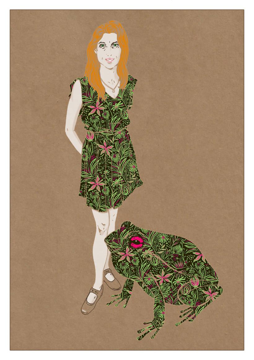 Ilustración de moda Nº 2. Proceso 5