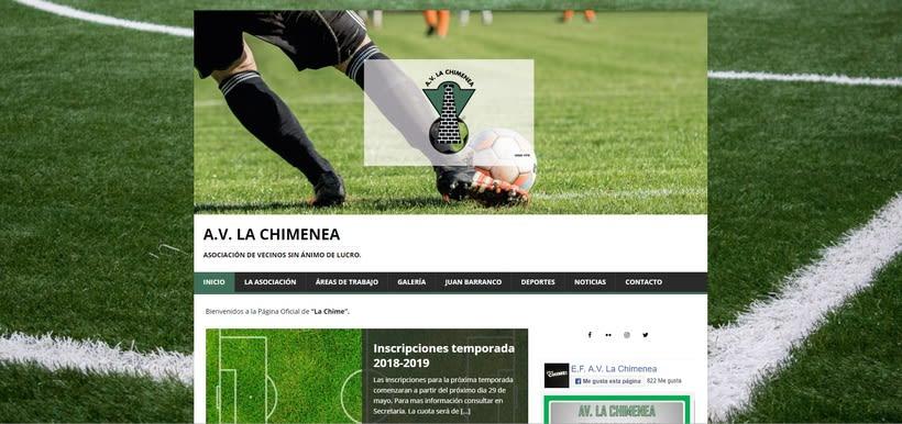 Mi Proyecto del curso: Iniciación al Diseño Web con WordPress - A.V. La Chimenea 0