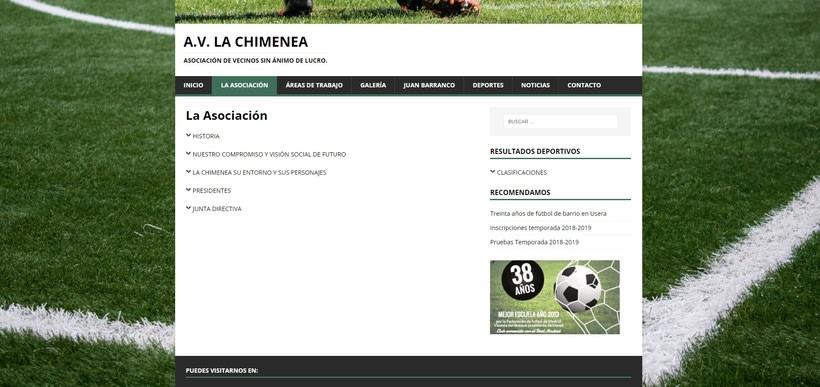 Mi Proyecto del curso: Iniciación al Diseño Web con WordPress - A.V. La Chimenea 4