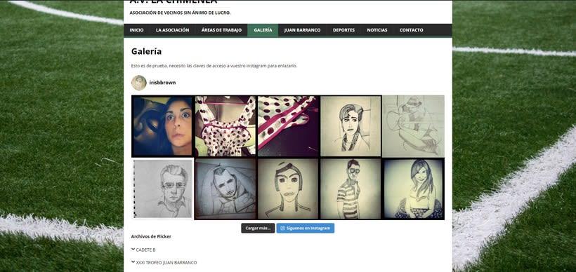 Mi Proyecto del curso: Iniciación al Diseño Web con WordPress - A.V. La Chimenea 6