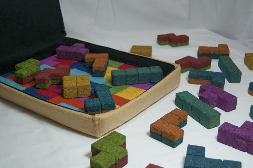 Juego de corcho inspirado en el clásico Tetris 0