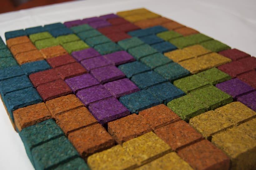 Juego de corcho inspirado en el clásico Tetris 2