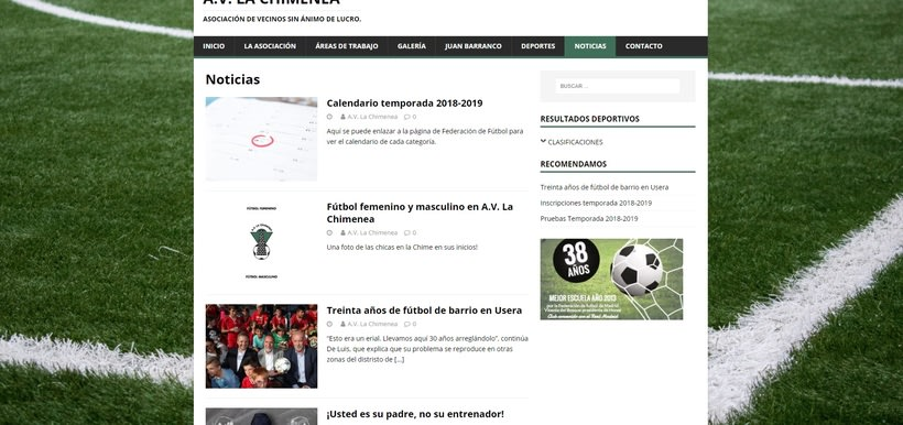 Mi Proyecto del curso: Iniciación al Diseño Web con WordPress - A.V. La Chimenea 10