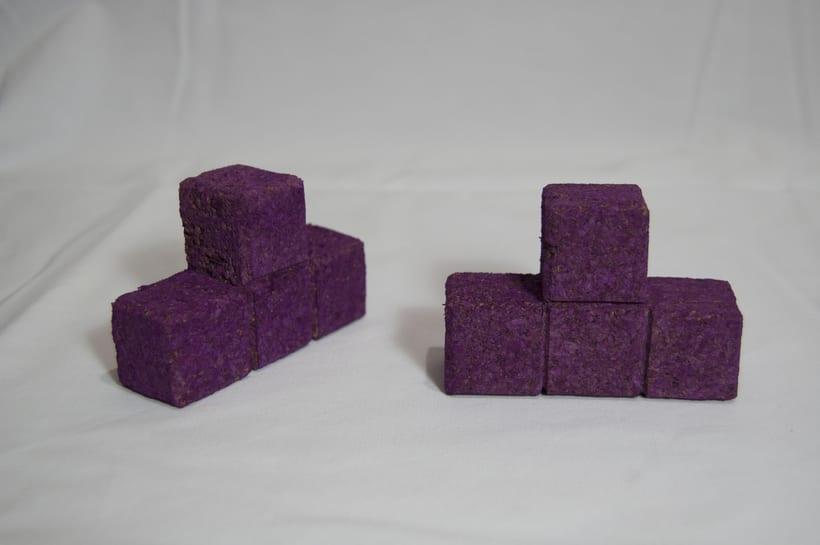 Juego de corcho inspirado en el clásico Tetris 5