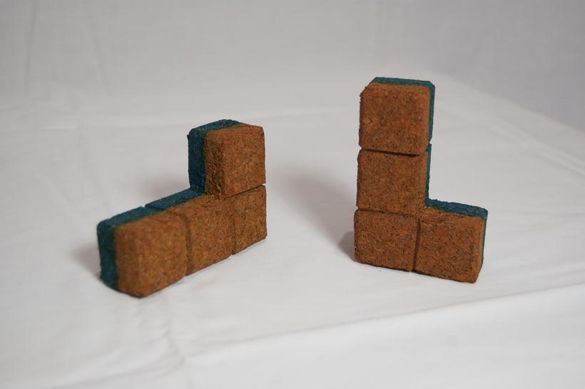 Juego de corcho inspirado en el clásico Tetris 7