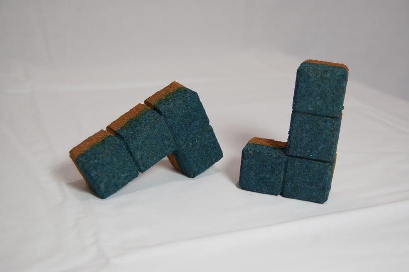 Juego de corcho inspirado en el clásico Tetris 8