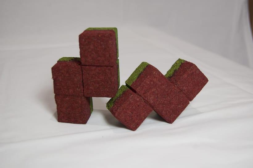 Juego de corcho inspirado en el clásico Tetris 11