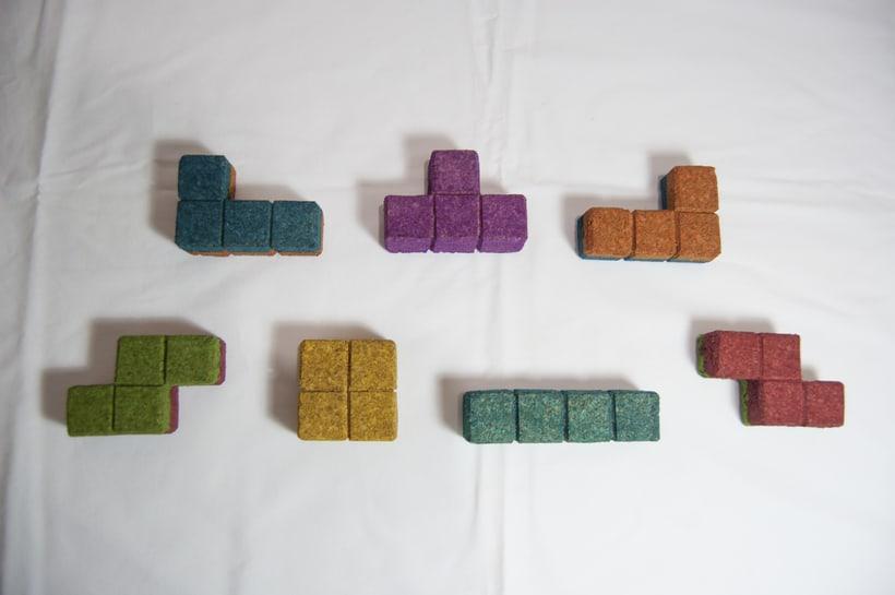 Juego de corcho inspirado en el clásico Tetris 12