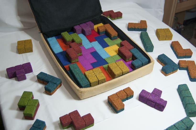 Juego de corcho inspirado en el clásico Tetris 14