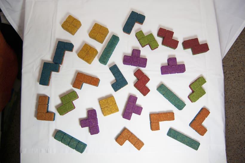 Juego de corcho inspirado en el clásico Tetris 15
