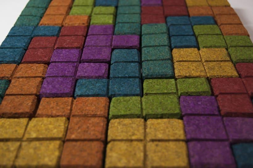 Juego de corcho inspirado en el clásico Tetris 17