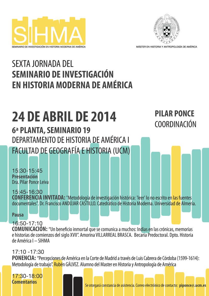 SIHMA - Seminario de Investigación de Historia Moderna de América 4