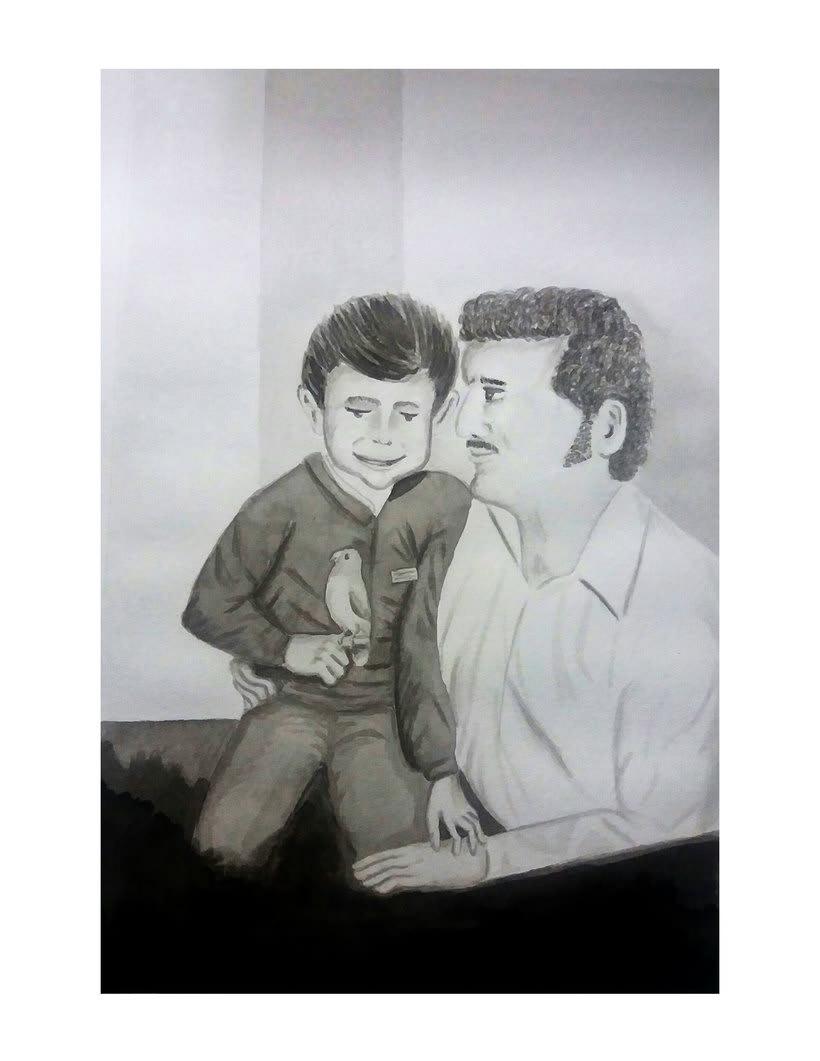 Mi Proyecto del curso: Introducción a la ilustración con tinta china- Padre y yo 0