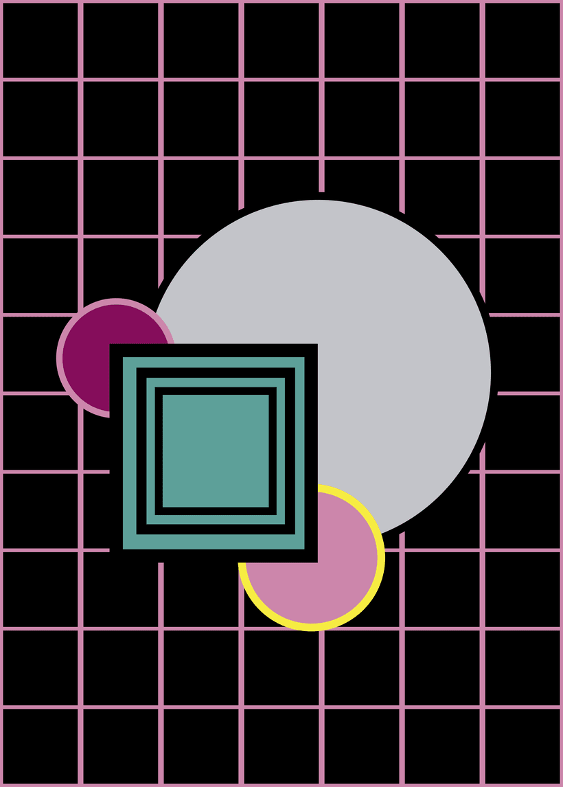 Neon squares 1