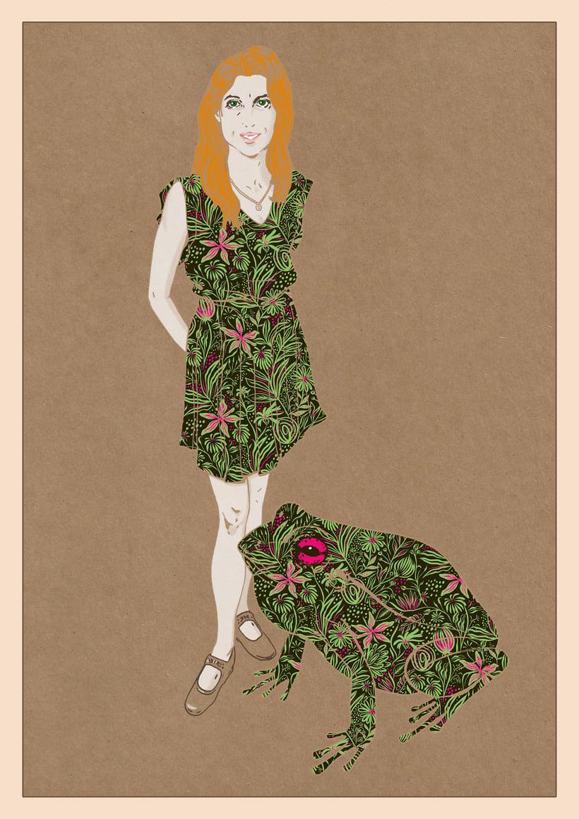 Ilustración de moda Nº 2. Proceso 6