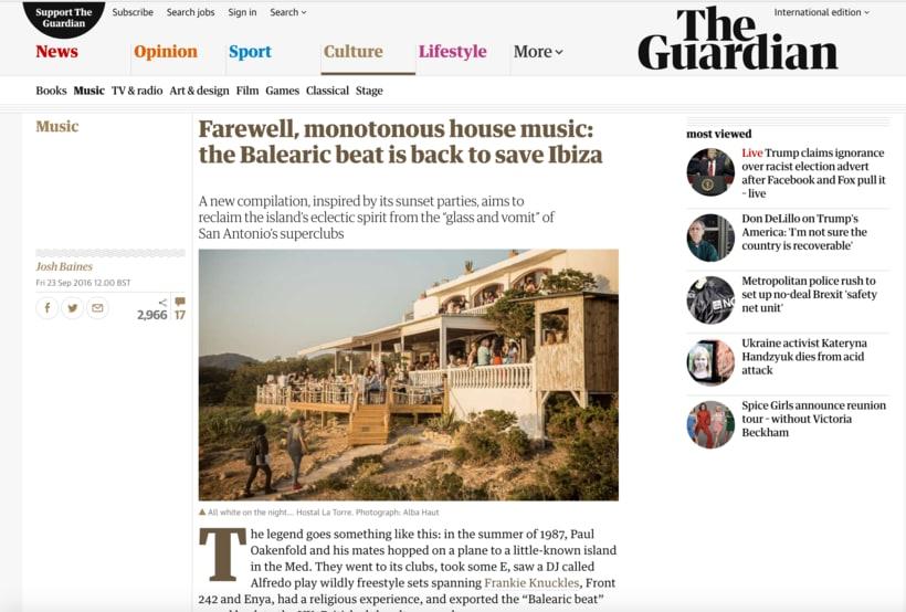 Publicación en la sección online de música del periódico británico The Guardian 1