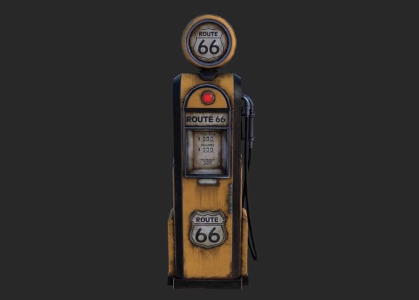 Vintage gas-station pump 0