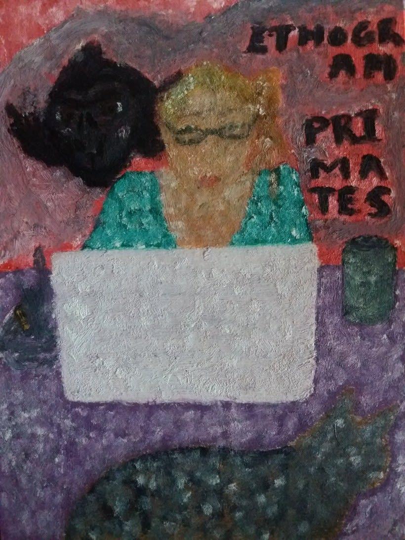 Nazaret concentrada en su trabajo 0