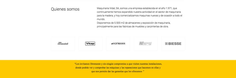 Web Maquinaria Vidal 2
